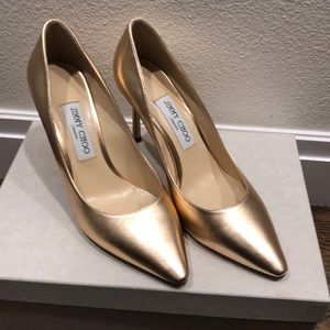 Jimmy Choo Romy 85 Rose Gold heels